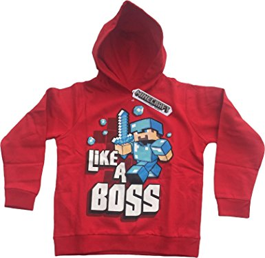 8017776e0a19 MINECRAFT-LIKE A BOSS- YOUTH HOODIE- RED - The Dark Carnival