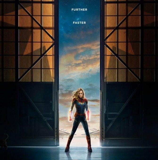 Spot the alien cat on the Captain Marvel poster
